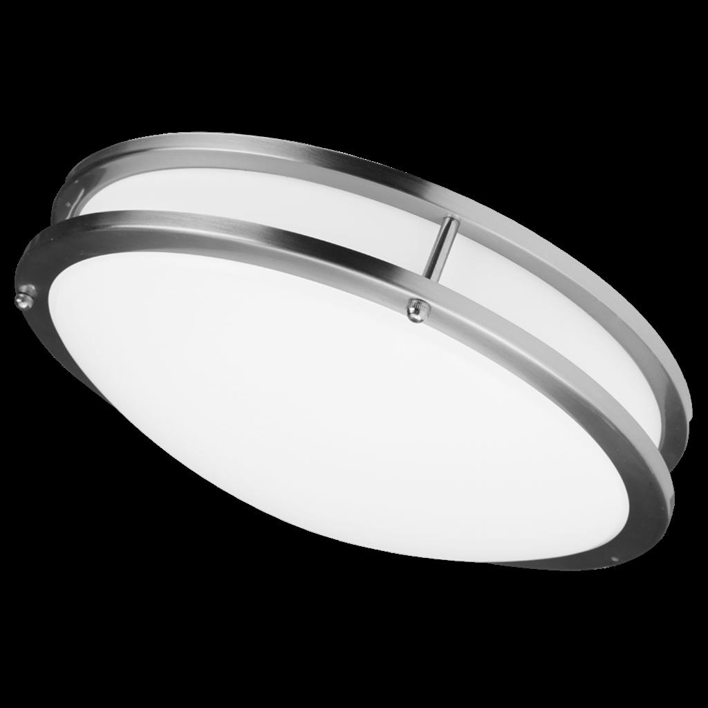 Led Ceiling Lights Daylight : Liron lighting inch millgrain flush mount led ceiling